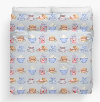 Cream Tea Duvet Cover