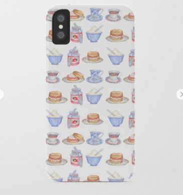 Cream Tea Phone Cover